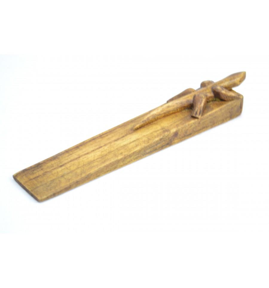 Cale porte original en bois d cor gecko ebay for Decoration porte bois