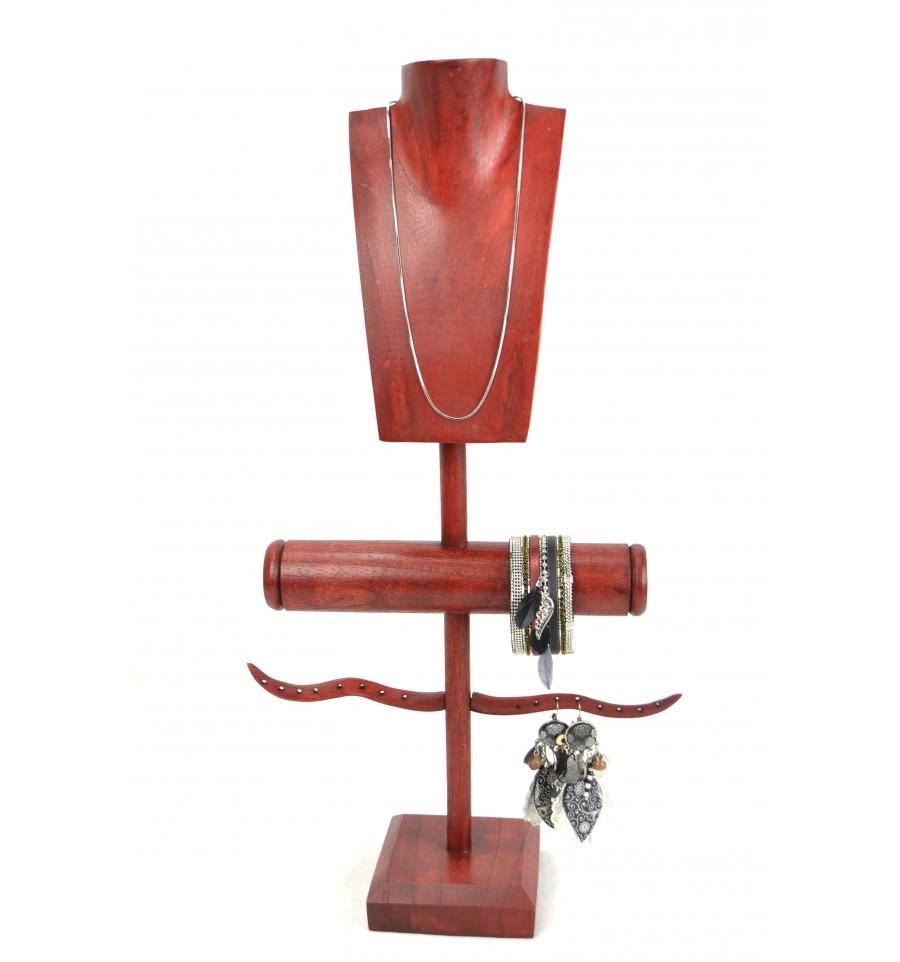 rangement pratique pour bijoux porte bijoux multifonction en bois. Black Bedroom Furniture Sets. Home Design Ideas