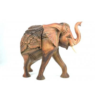 Grande Statue éléphant en bois H30cm. Pièce rare !