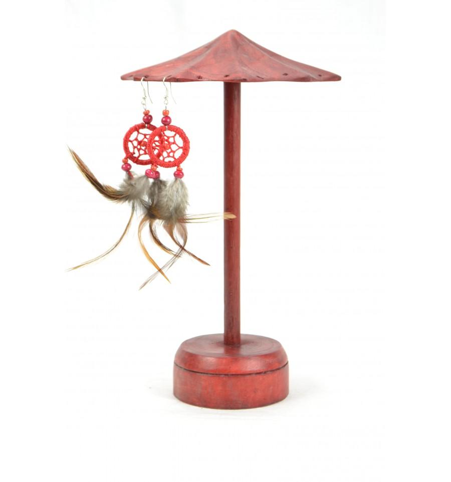 Pr sentoir boucles d 39 oreilles forme parasol en bois m ebay - Presentoir boucles d oreilles ...