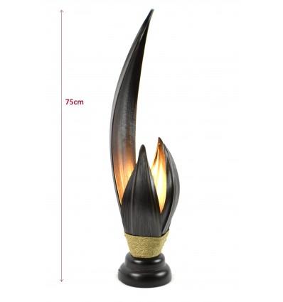 Grande lampe de salon artisanale, décoration zen style ...