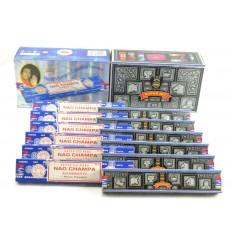 Encens Satya pas cher. Pack économique 12x15gr Nag Champa & Super Hit (environ 140 bâton).