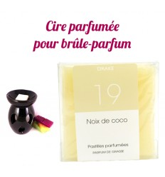 """Pastilles de cire parfumée, senteur """"Noix de Coco"""" par Drake"""