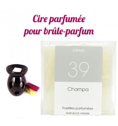 """Pastilles de cire parfumée, senteur """"Champa"""" par Drake"""
