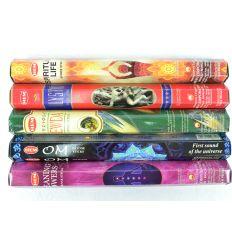 Assortiment d'encens spécial Yoga Spiritualité Méditation, 5 variétés / 100 bâtons marque HEM.