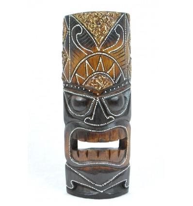 Masque Tiki h30cm en bois. Fabrication artisanale.