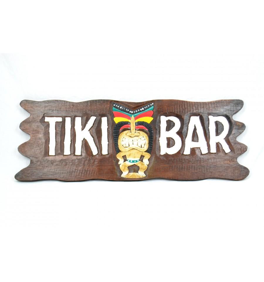 "Grande plaque enseigne en bois""Tiki Bar"" fabrication artisanal eBay # Enseigne En Bois Personnalisé"