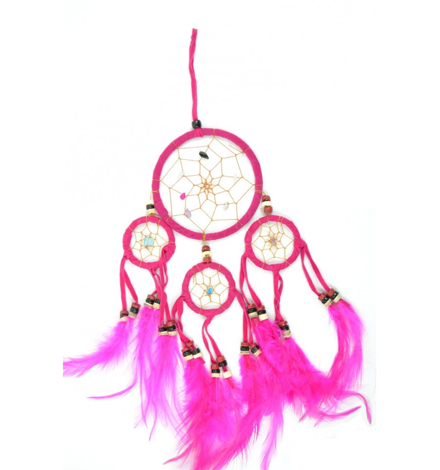 achat dreamcatcher attrape r ves indien rose original et. Black Bedroom Furniture Sets. Home Design Ideas