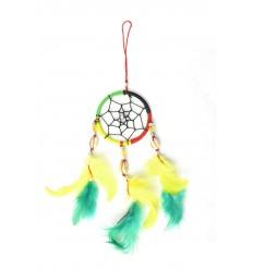 Attrape-rêves multicolore rasta reggae Jamaïque - idéal rétroviseur !