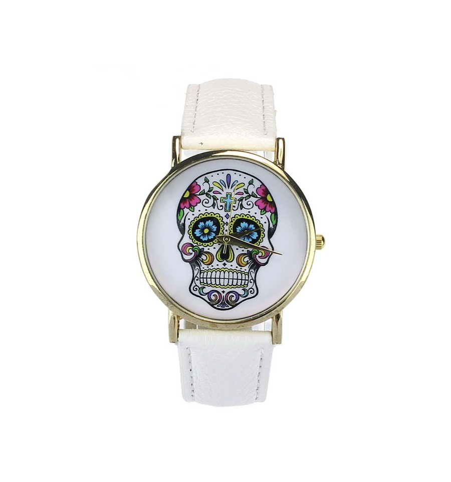 achat montre calavera cr ne mexicain t te de mort color e. Black Bedroom Furniture Sets. Home Design Ideas