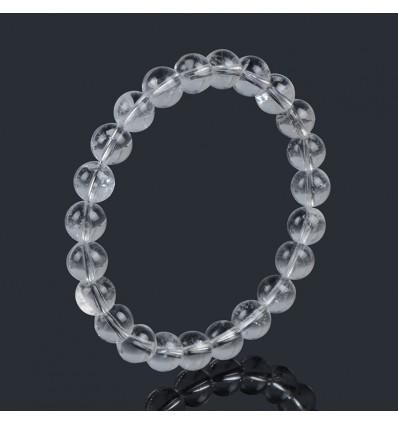 Bracelet Lithotherapie en Cristal de Roche - Force et Protection