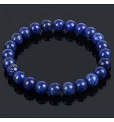 Bracelet Lithothérapie en Lapis Lazuli naturel - Bonne humeur et amitié.