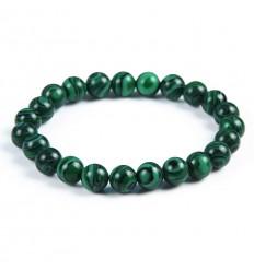 Bracelet Lithothérapie en Malachite - Protection, guérison, clairvoyance.