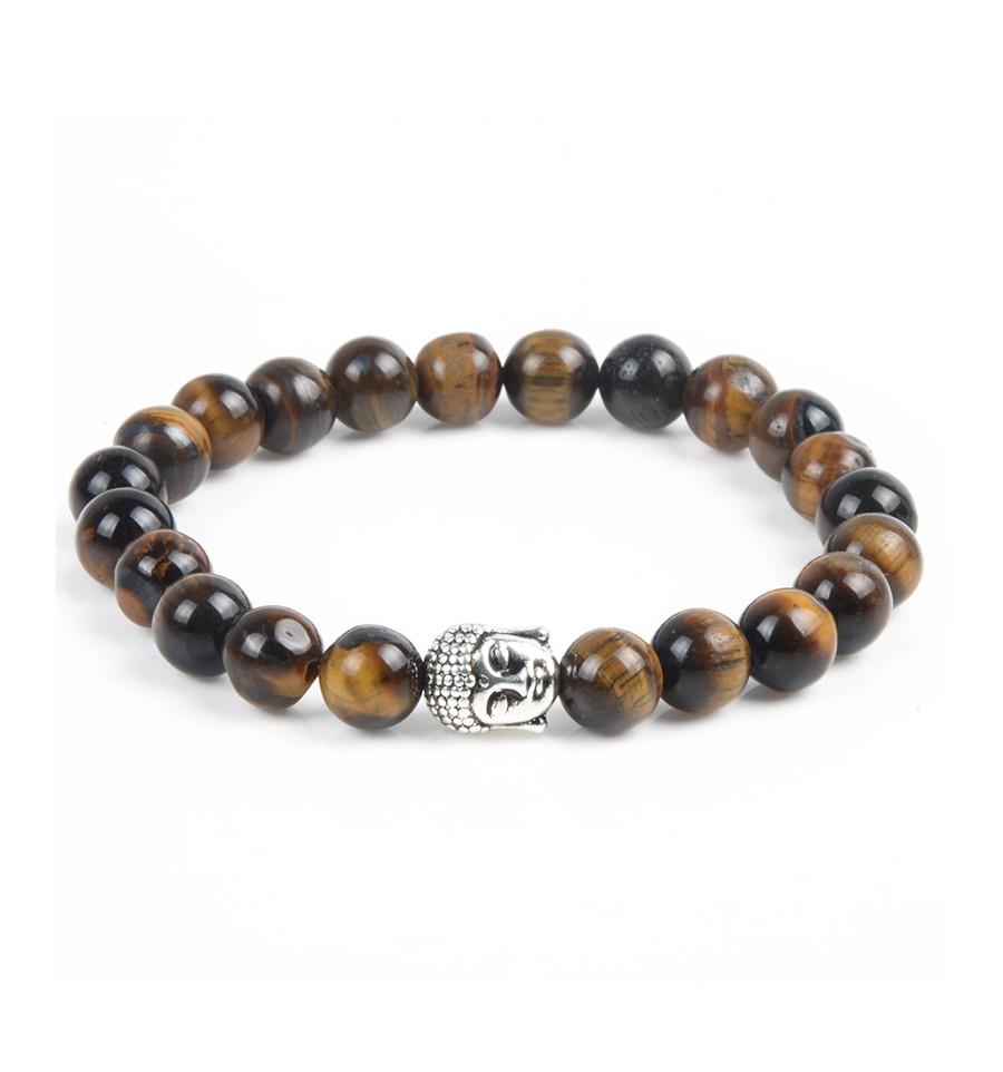 Bracelet Oeil De Tigre Perle Bouddha Pas Cher Livraison Gratuite