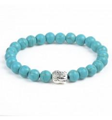 Bracelet Turquoise + perle Bouddha. Livraison gratuite.