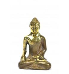 Statuette Bouddha Bhumisparsa Mûdra en bronze h7cm.