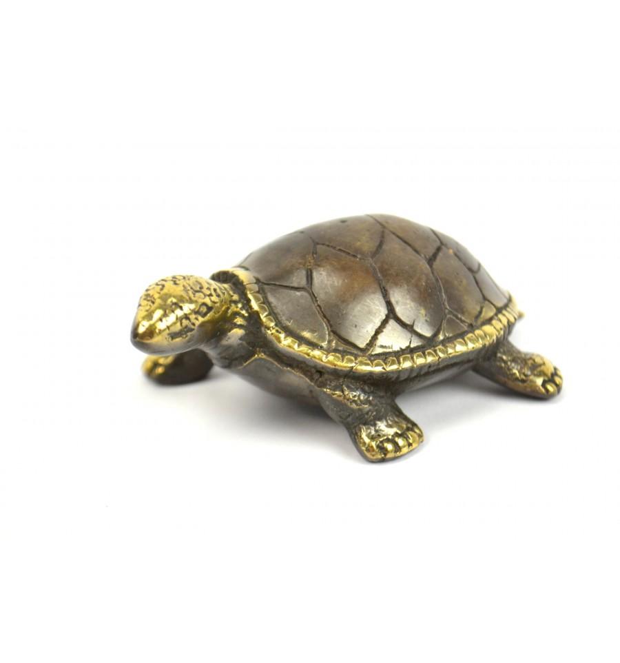 statuette figurine d co tortue de terre en bronze artisanal pas cher. Black Bedroom Furniture Sets. Home Design Ideas