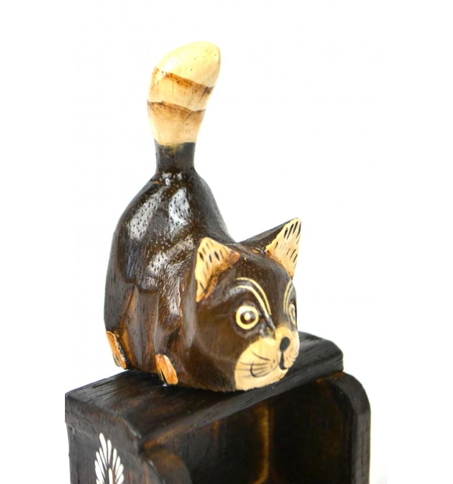 petit calendrier perp tuel en bois d cor chat cadeau enfant ebay. Black Bedroom Furniture Sets. Home Design Ideas