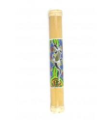 Rainstick 40cm, Bâton de Pluie en bambou, décor peint à la main.