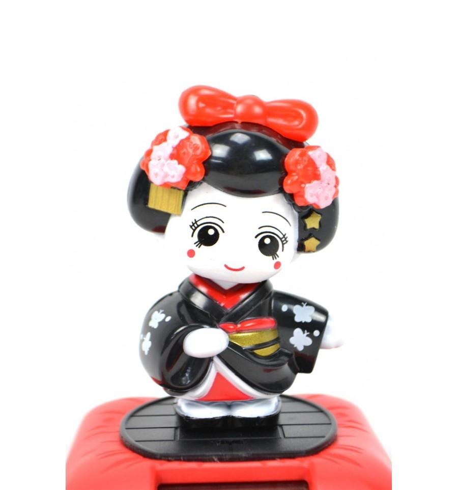 mobile solaire geisha poup e kokeshi noire porte bonheur japonais. Black Bedroom Furniture Sets. Home Design Ideas