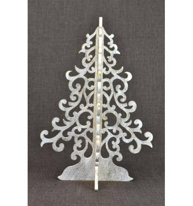 Sapin de Noël doré 40cm en bois. Décoration de Noël originale.