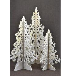 Lot 3 sapins de Noël 30-40-50cm. Décoration de Noël fait main.