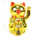 Maneki Neko Family doré - chats japonais porte-bonheur pour la famille.