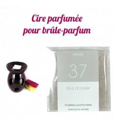 """Pastilles de cire parfumée, senteur """"Bois d'olivier"""" par Drake"""