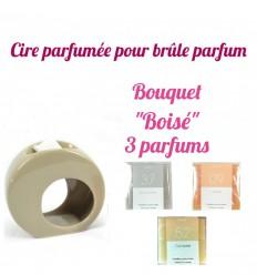 """Pastilles de cire parfumée, Bouquet """"Boisé"""" 3 parfums - Drake"""