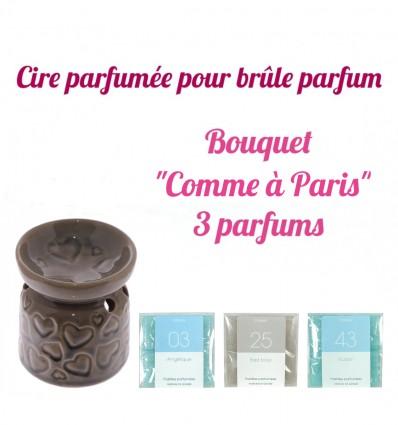 """Pastilles de cire parfumée, Bouquet """"Comme à Paris"""" 3 parfums - Drake"""