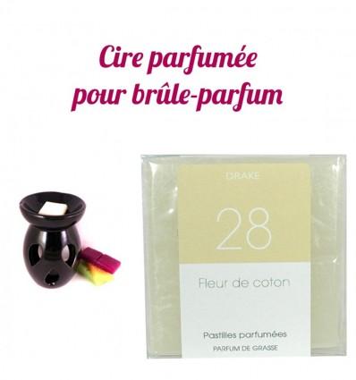 """Pastilles de cire parfumée, senteur """"Fleur de Coton"""" par Drake"""
