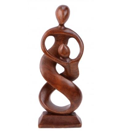 Statue abstraite couple parent enfant idée cadeau famille monoparentale.