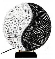 "Lampe de salon ""Yin Yang"". Décoration Zen asiatique."