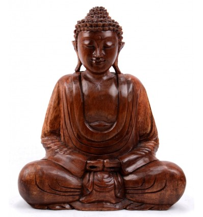 Statue de Bouddha assis en lotus. Artisanat d'Asie.