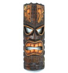 Masque Tiki maori en bois fabrication artisanale, commerce équitable.