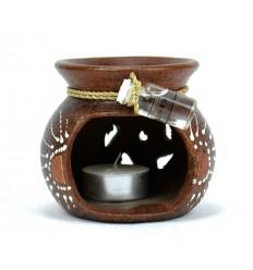 Achat brule-parfum pas cher, diffuseur artisanal de Bali terre cuite.
