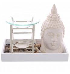 Brule-parfum à bougie original style jardin Zen, décoration asiatique.