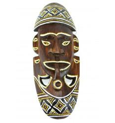 Masque africain original en bois. Décoration murale afrique.