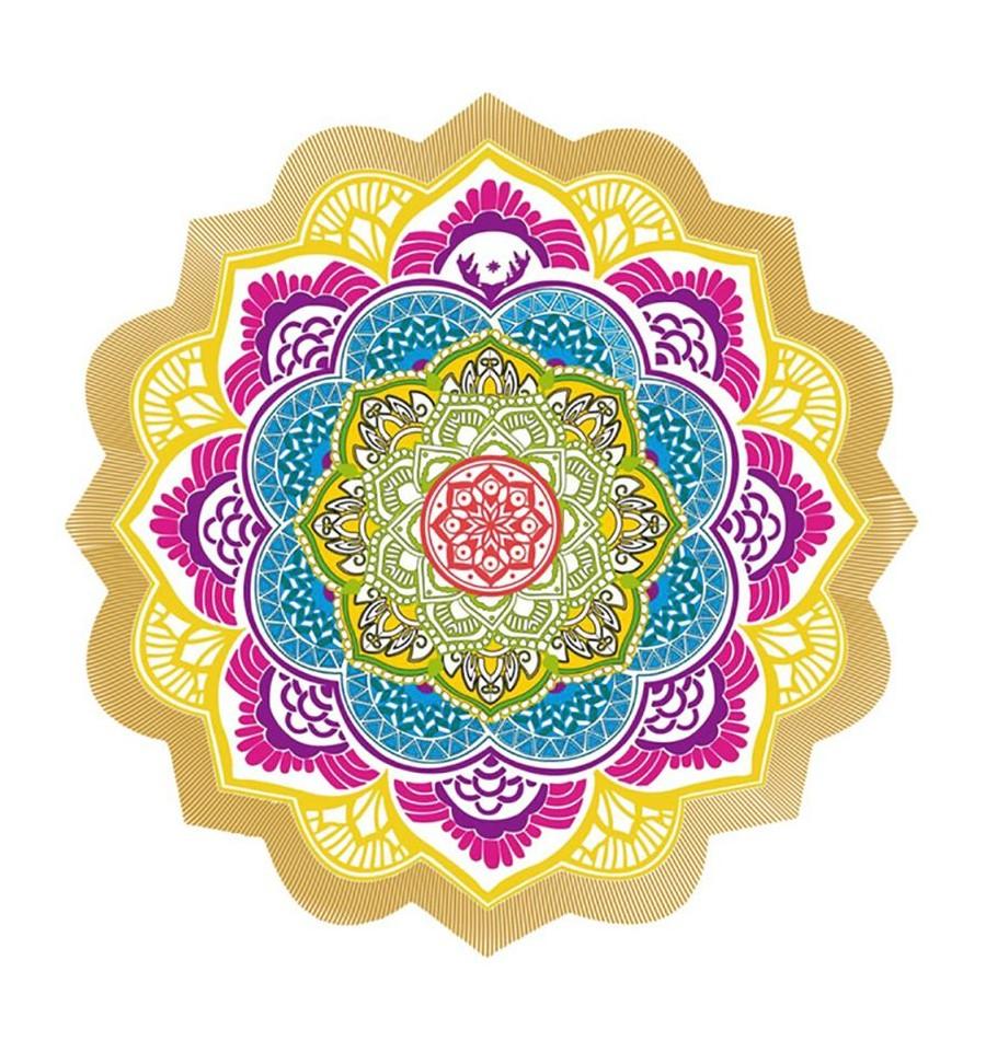tapis de m ditation relaxation yoga motif mandala. Black Bedroom Furniture Sets. Home Design Ideas
