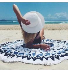 Drap de plage rond Tapis de relaxation Tenture murale 150cm HIppie chic