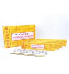 Encens Indien Goloka  Nag Champa 5 boîtes 16g soit 60 bâtonnets