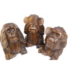 les 3 singes de la sagesse achat statues statuettes objets d co coco papaya. Black Bedroom Furniture Sets. Home Design Ideas