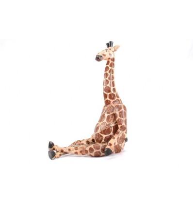 Pantin articulé / marionnette Girafe en bois patiné style ancien