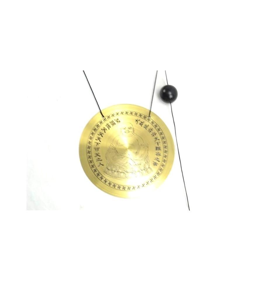 carillon vent feng shui wind gong motif bouddha rieur ebay. Black Bedroom Furniture Sets. Home Design Ideas