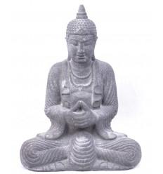 Statue de Bouddha en pierre de Java grise h28cm