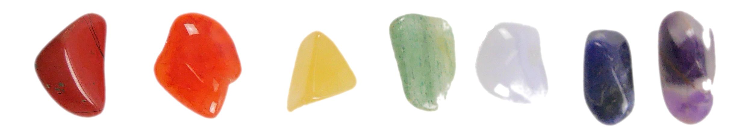 7 chakras pierres lithothérapie coco papaya