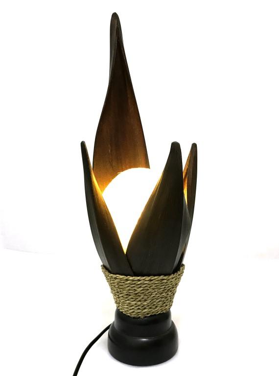 lampe de chevet ethnique en feuilles de cocotier style exotique exclusivit coco papaya la. Black Bedroom Furniture Sets. Home Design Ideas